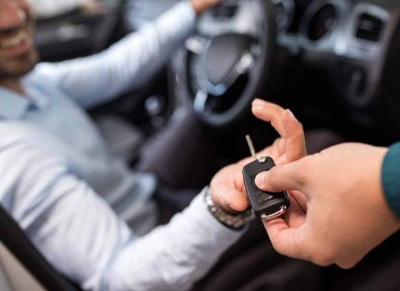 car keys handing over